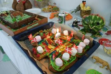 Traditional Danish birthday cake